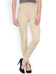 Westwood Cream-Coloured Skinny Fit Jeggings