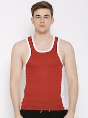 Zoiro Red & White Innerwear Vest Trento 04