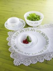 Corelle White Printed Glass Dinner Set