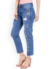 TARAMA Women Blue Distressed Jeans