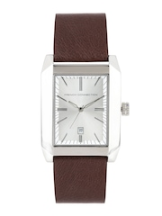 French Connection Men Silver-Toned Dial Watch FC1003TGN