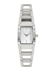 French Connection Women Silver-Toned Dial Watch FC1037SWN