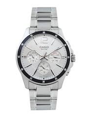 Casio Men Silver Toned Dial Watch