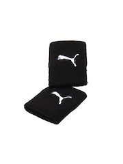 Puma Unisex Pack of 2 Black Team Long Wristband