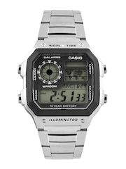Casio Youth Series Men Steel Toned Digital Watch