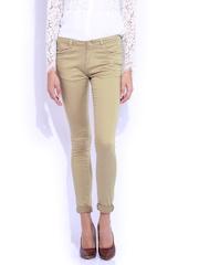 Kraus Jeans Khaki Mid-Rise Skinny Fit K3006 Trousers