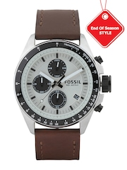 Fossil Men Off-White Dial Chronograph Watch CH2882I