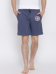 Hanes Men Blue Lounge Shorts P451-374-CP
