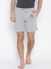 Hanes Grey Melange Lounge Shorts P451-003