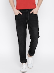 U.S. Polo Assn. Men Black Slim Tapered Fit Jeans