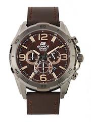 Casio Edifice Men Brown Dial Watch EX184