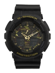 Casio G-Shock Men Black Analogue-Digital Watches (G519) GA-100CF-1A9DR