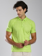 Breakbounce Green Bear Hug Slim Fit Washed Polo T-shirt
