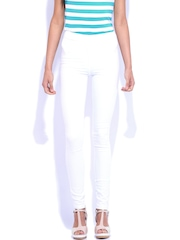 Kraus Jeans White Ankle-Length Jeggings