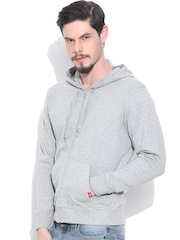 Vans Grey Melange Hooded Sweatshirt