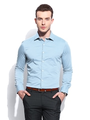 INVICTUS Men Blue Slim Fit Formal Shirt