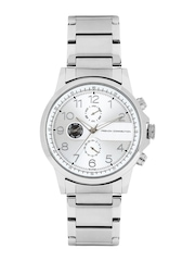 French Connection Men Silver-Toned Dial Watch FC1131SMGN