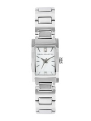 French Connection Women Silver-Toned Dial Watch FC1024SWN