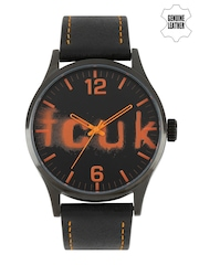 French Connection Men Black Analogue Watch FC1096OOLGN