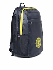 Tommy Hilfiger Men Navy & Yellow Bikers Collection Backpack