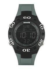 Sonata Men Ocean Series Grey Digital Watch 77035PP02