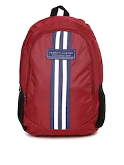 Tommy Hilfiger Unisex Red Biker Club Stapleton Backpack