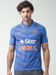 Nike Men Blue ODI SS Stadium Jersey T-shirt
