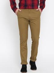 U.S. Polo Assn. Men Khaki Slim Fit Trousers
