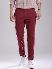 GANT Men Maroon Soho Narrow Fit Chino Trousers