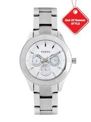 Fossil Women Silver-Toned Dial Watch ES3052I