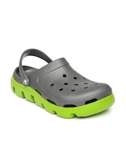 Crocs Unisex Grey Duet Sport Cut-Work Clogs