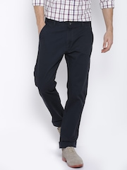 Arrow Sport Navy Chrysler Fit Casual Trousers
