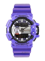 CASIO G-Shock Men Steel-Toned & Black Smart Watch G558