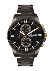 Casio Edifice Men Black Chronograph Dial Watch EX224