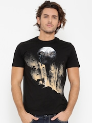 Batman by Free Authority Men Black Printed T-shirt