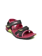 PUMA Women Black & Pink Vesta SDL DP Sports Sandals