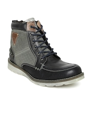 ID Men Black Leather Boots