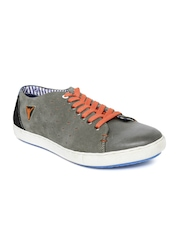 ID Men Grey Suede Sneakers