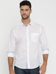 United Colors of Benetton Men White Casual Shirt