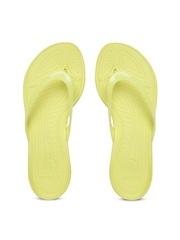 Crocs Women Yellow Flip-Flops