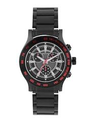 maxima Men Black & Grey Chronograph Watch 32950CMGB