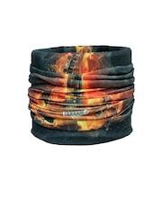 NOISE Unisex Orange & Black Printed Multipurpose Headwear
