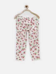 United Colors of Benetton Girls White Floral Printed Capris
