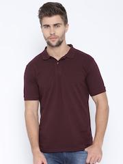 Highlander Men Maroon Polo T-Shirt