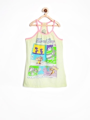 Tom & Jerry by Kids Ville Girls Light Yellow Printed Racerback Top