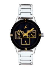 Fastrack Women Black Dial Watch 6078SM09