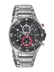 Titan Men Chronograph Black Dial Watch 1631KM01