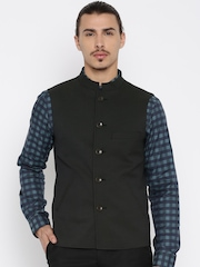 Peter England Green Nehru Jacket