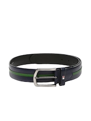 Tommy Hilfiger Men Navy Leather Belt