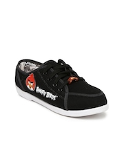 Angry Birds Bata Women Black Sneakers